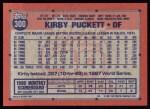 1991 Topps #300  Kirby Puckett  Back Thumbnail