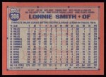 1991 Topps #306  Lonnie Smith  Back Thumbnail
