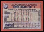 1991 Topps #309  Norm Charlton  Back Thumbnail