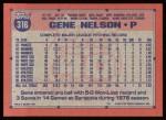 1991 Topps #316  Gene Nelson  Back Thumbnail