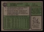 1974 Topps #172  Gene Clines  Back Thumbnail