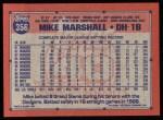 1991 Topps #356  Mike Marshall  Back Thumbnail