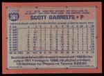1991 Topps #361  Scott Garrelts  Back Thumbnail