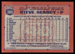 1991 Topps #369  Steve Searcy  Back Thumbnail