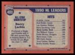 1991 Topps #400   -  Barry Larkin All-Star Back Thumbnail