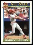1991 Topps #400   -  Barry Larkin All-Star Front Thumbnail