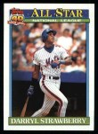 1991 Topps #402   -  Darryl Strawbery All-Star Front Thumbnail