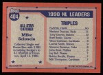 1991 Topps #404   -  Mike Scioscia All-Star Back Thumbnail
