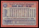 1991 Topps #408  Earnest Riles  Back Thumbnail