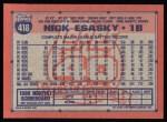 1991 Topps #418  Nick Esasky  Back Thumbnail