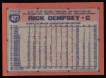 1991 Topps #427  Rick Dempsey  Back Thumbnail