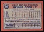 1991 Topps #467  Dennis Cook  Back Thumbnail