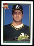 1991 Topps #473  Curt Young  Front Thumbnail