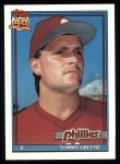1991 Topps #486  Tommy Greene  Front Thumbnail