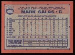 1991 Topps #498  Mark Salas  Back Thumbnail