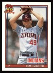 1991 Topps #624  Tom Candiotti  Front Thumbnail