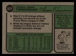 1974 Topps #327  Tom Timmermann  Back Thumbnail