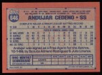 1991 Topps #646  Andujar Cedeno  Back Thumbnail
