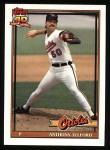 1991 Topps #653  Anthony Telford  Front Thumbnail
