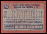 1991 Topps #764  Mark Carreon  Back Thumbnail