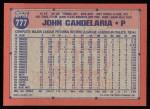 1991 Topps #777  John Candelaria  Back Thumbnail