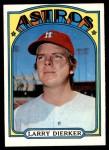 1972 Topps #155  Larry Dierker  Front Thumbnail