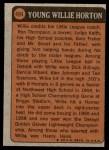 1972 Topps #494   -  Willie Horton Boyhood Photo Back Thumbnail