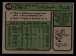 1974 Topps #432  Chris Arnold  Back Thumbnail
