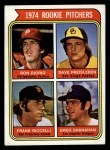 1974 Topps #599 LG  -  Dave Freisleben / Ron Diorio / Frank Riccelli / Greg Shanahan Rookie Pitchers   Front Thumbnail