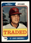 1974 Topps Traded #348 T  -  Pete Richert Traded Front Thumbnail