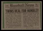 1974 Topps Traded #319 T  -  Randy Hundley Traded Back Thumbnail
