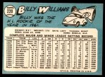 1965 Topps #220  Billy Williams  Back Thumbnail