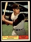 1961 Topps #430  Bill Mazeroski  Front Thumbnail