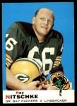 1969 Topps #55  Ray Nitschke  Front Thumbnail