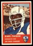 1963 Fleer #77  Earl Faison  Front Thumbnail