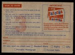 1957 Topps   CC3 Contest Card June 22nd Back Thumbnail