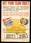 1958 Topps   Felt Team Emblems Card Back Thumbnail