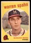 1959 Topps #40 B Warren Spahn  Front Thumbnail