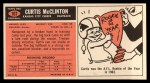 1965 Topps #107  Curtis McClinton  Back Thumbnail