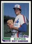 1982 Topps #7  Scott Sanderson  Front Thumbnail