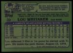 1982 Topps #39  Lou Whitaker  Back Thumbnail