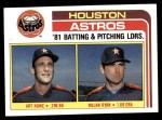 1982 Topps #66   -  Nolan Ryan / Art Howe Astros Leaders Front Thumbnail