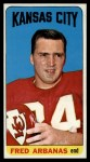 1965 Topps #89  Fred Arbanas  Front Thumbnail