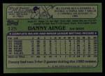 1982 Topps #125  Danny Ainge  Back Thumbnail