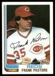 1982 Topps #128  Frank Pastore  Front Thumbnail