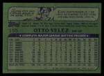 1982 Topps #155  Otto Velez  Back Thumbnail