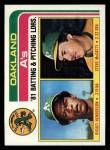1982 Topps #156   -  Rickey Henderson / Steve McCatty Athletics Leaders Front Thumbnail