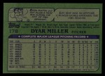 1982 Topps #178  Dyar Miller  Back Thumbnail