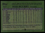 1982 Topps #207  Rod Scurry  Back Thumbnail