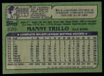 1982 Topps #220  Manny Trillo  Back Thumbnail